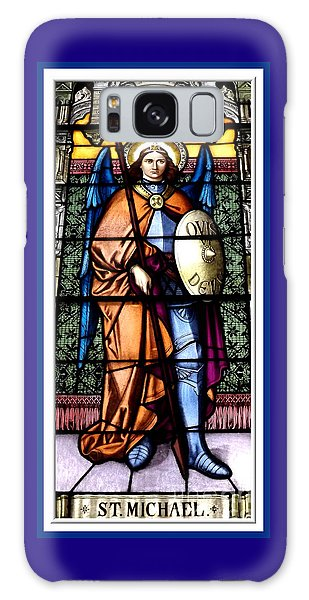 Galaxy Case featuring the photograph Saint Michael The Archangel Stained Glass Window by Rose Santuci-Sofranko