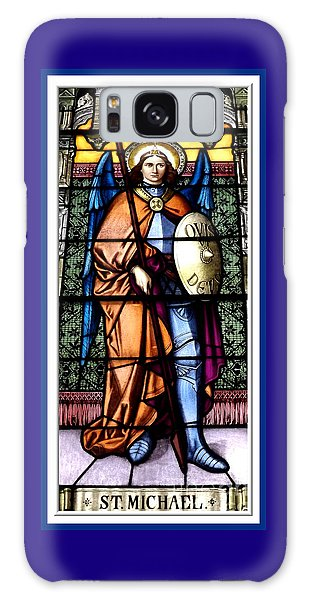 Saint Michael The Archangel Stained Glass Window Galaxy Case