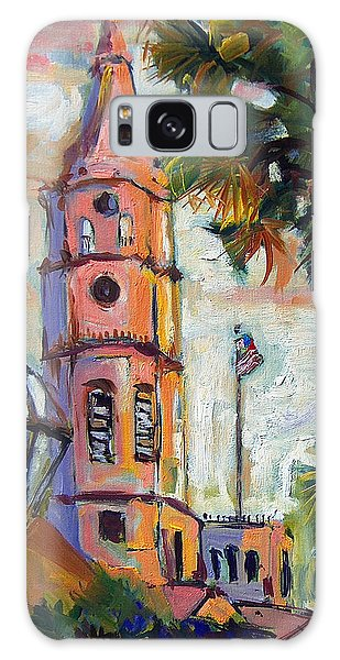Saint Michaels Church Charleston Sc Oil Painting Galaxy Case