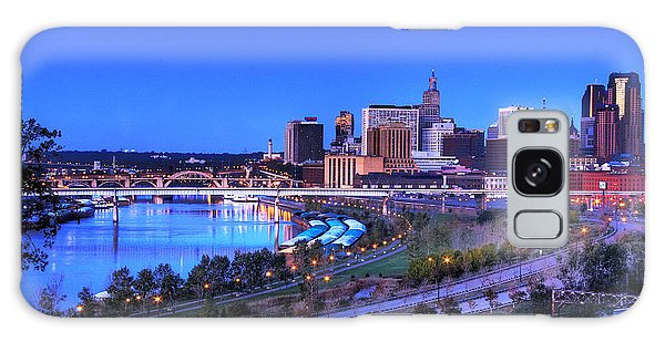 Saint Paul Minnesota Skyline Blue Morning Light Galaxy Case