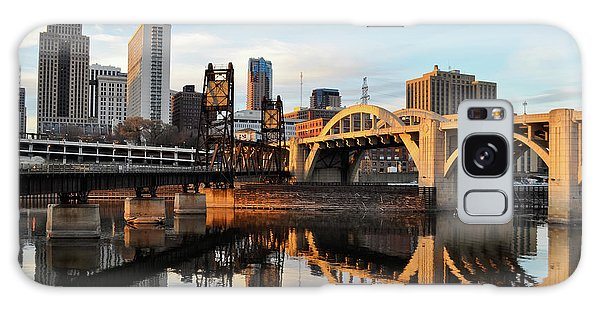 Saint Paul Mississippi River Sunset Galaxy Case