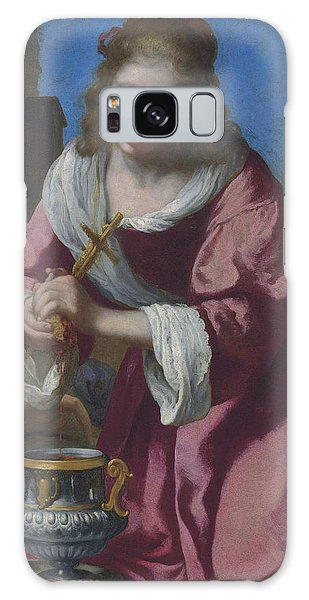 Jan Vermeer Galaxy Case - Saint Praxedis by Jan Vermeer