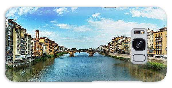 Saint Trinity Bridge From Ponte Vecchio Galaxy Case