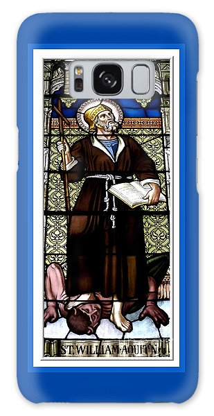 Galaxy Case featuring the photograph Saint William Of Aquitaine Stained Glass Window by Rose Santuci-Sofranko