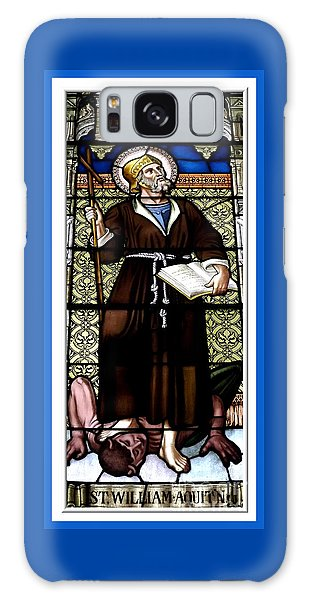 Saint William Of Aquitaine Stained Glass Window Galaxy Case