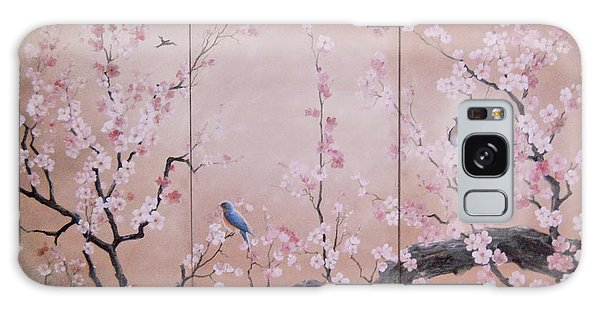 Sakura - Cherry Trees In Bloom Galaxy Case by Sorin Apostolescu