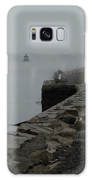 Salem Harbor In Fog Galaxy Case