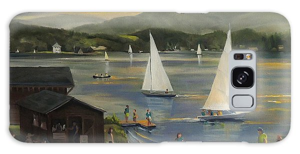 Sailing At Lake Morey Vermont Galaxy Case