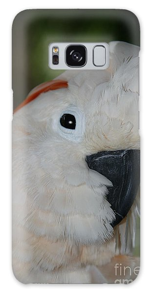 Salmon Crested Cockatoo Galaxy Case by Sharon Mau