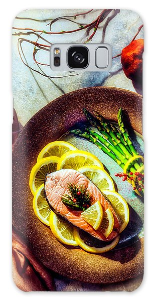 Asparagus Galaxy Case - Salmon Dinner by Garry Gay
