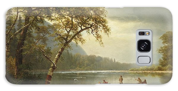 Salmon Galaxy S8 Case - Salmon Fishing On The Caspapediac River by Albert Bierstadt