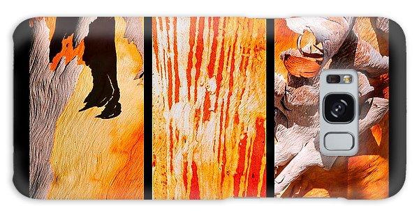 Salmon Gum Tree Triptych Galaxy Case