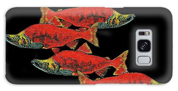 Salmon Season Galaxy Case by Debbie Chamberlin