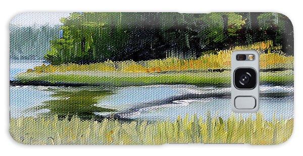 Galaxy Case featuring the painting Salt Creek by Nancy Merkle