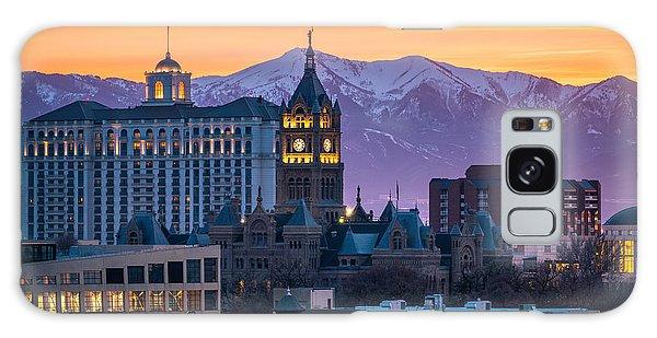 Salt Lake City Hall At Sunset Galaxy Case