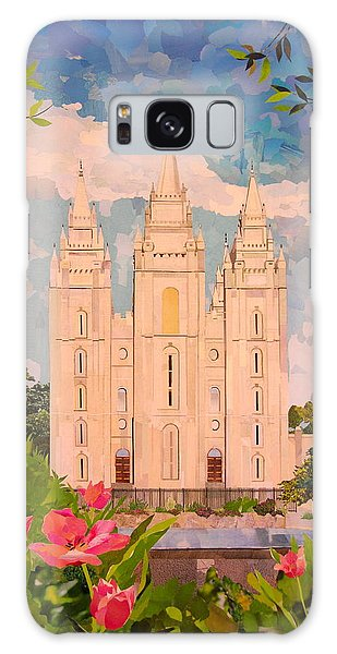 Salt Lake City Temple Galaxy Case by Robin Birrell