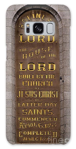 Salt Lake Lds Temple Dedication Plaque Close-up Galaxy Case