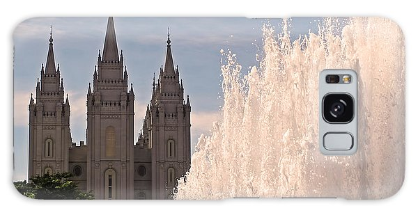 Salt Lake Temple And Fountain Galaxy Case by Rona Black