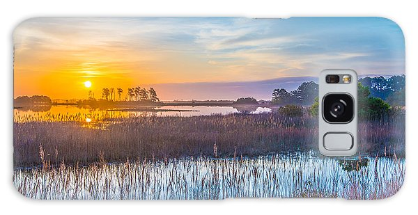 Salt Marsh Sunrise II Galaxy Case