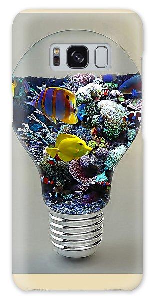 Saltwater Aquarium Light Bulb Galaxy Case by Marvin Blaine