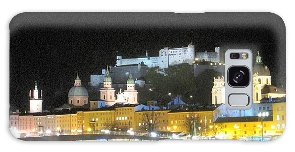 Salzburg At Night Galaxy Case