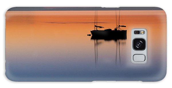 Samish Sea Sunset Galaxy Case
