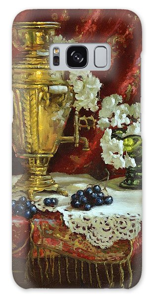 Samovar And Cherry Blossoms Galaxy Case