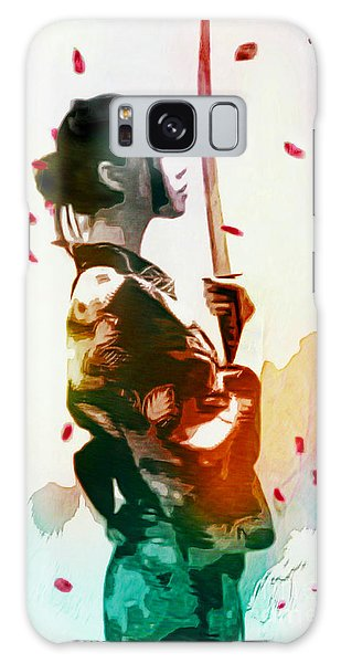 Samurai Girl - Watercolor Painting Galaxy Case