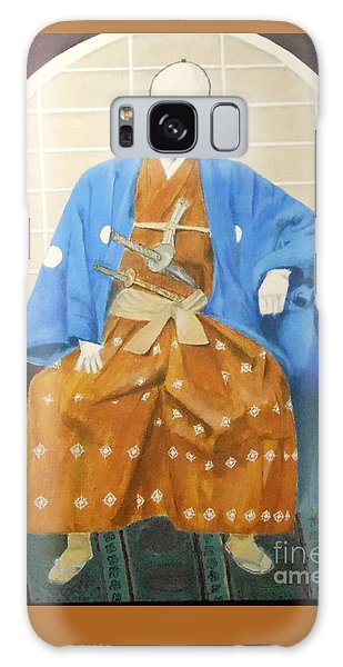 Samurai-san -- Portrait Of Japanese Warrior Galaxy Case