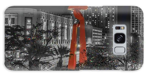 San Antonio La Antorcha De La Amistad Sculpture In Selective Color Galaxy Case