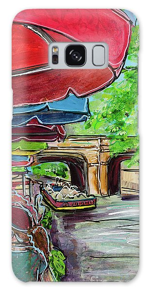 Galaxy Case featuring the painting San Antonio River Walk Cafe by TM Gand