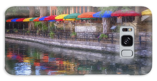 Outdoor Dining Galaxy Case - San Antonio Riverwalk Colors by Joan Carroll