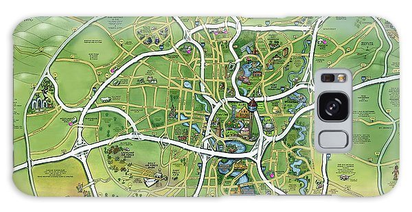 San Antonio Texas Cartoon Map Galaxy Case