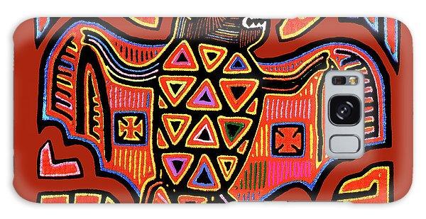 Galaxy Case featuring the digital art San Blas Kuna Indian Bat by Vagabond Folk Art - Virginia Vivier