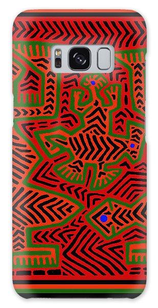 Galaxy Case featuring the digital art San Blas Shaman Spirits by Vagabond Folk Art - Virginia Vivier