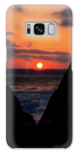 San Clemente Beach Rock View Sunset Portrait Galaxy Case by Matt Harang