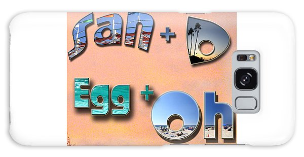 San D Egg Oh Galaxy Case by Christopher Woods
