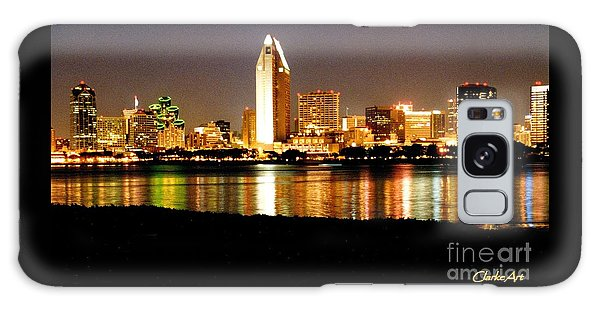 San Diego Skyline With Reflections On Mission Bay Galaxy Case