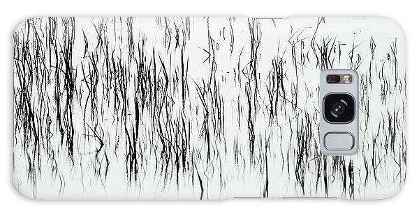 San Diego River Grass In Black And White Galaxy Case