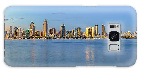 San Diego Skyline At Dusk Galaxy Case