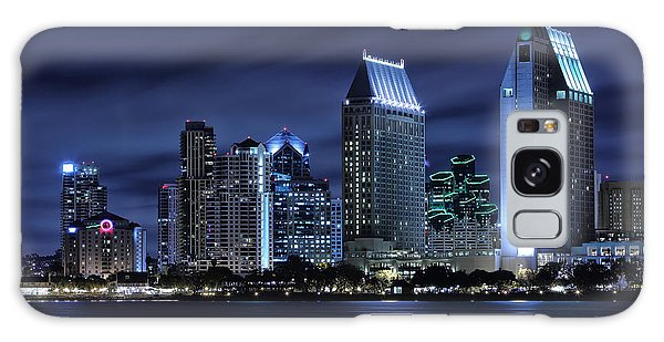City Scenes Galaxy S8 Case - San Diego Skyline At Night by Larry Marshall