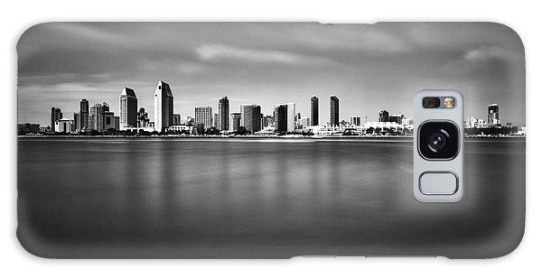 San Diego Skyline - Black And White Galaxy Case