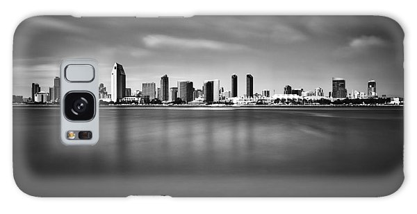 San Diego Skyline - Black And White Galaxy Case