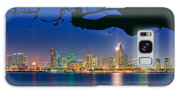 San Diego Skyline From Bay View Park In Coronado Galaxy Case