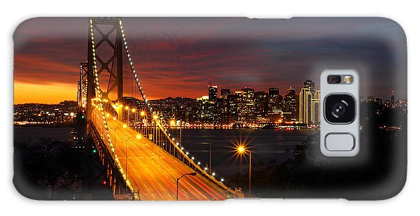 San Francisco Bay Bridge At Sunset Galaxy Case