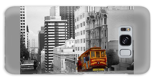 San Francisco - Red Cable Car Galaxy Case