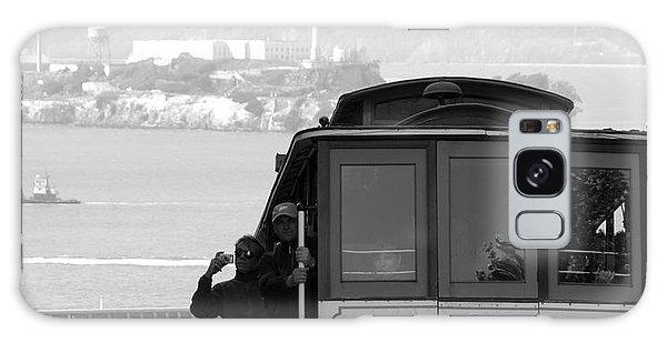 San Francisco Cable Car With Alcatraz Galaxy Case by Shane Kelly