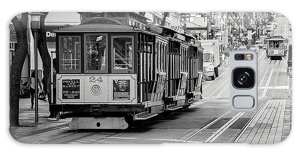 San Francisco Cable Cars Galaxy Case by Eddie Yerkish