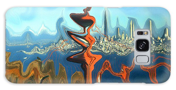 San Francisco Earthquake - Modern Artwork Galaxy Case
