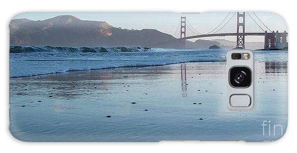 San Francisco Golden Gate Bridge Reflected On Baker's Beach Wet  Galaxy Case